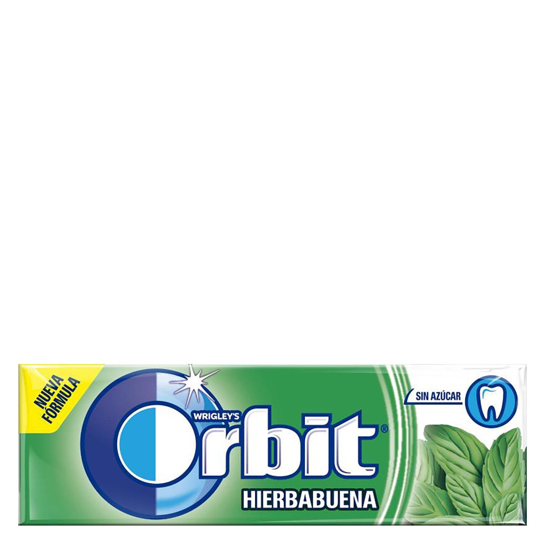 Chicles sabor hierbabuena Orbit  14 g.