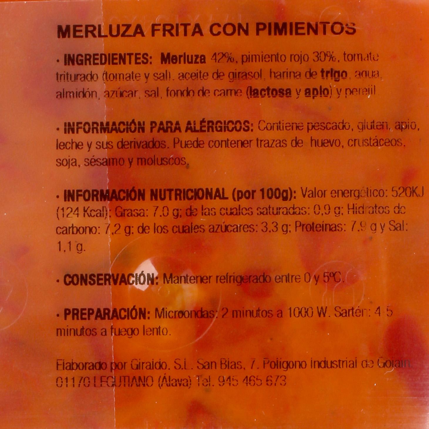 Merluza frita con pimientos Bacalao Giraldo 250 g - 3