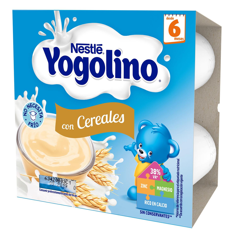 Postre lácteo con cereales desde 6 meses Nestlé Yogolino pack de 4 unidades de 100 g. -