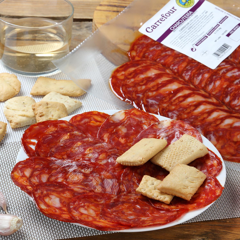 Chorizo ibérico de cebo 50% raza ibérica loncheado Carrefour Calidad y Origen 100 g  - 2