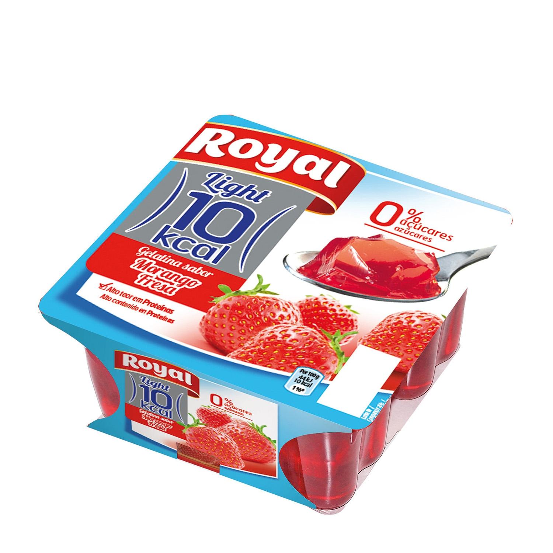 Gelatina sabor fresa Royal 400 g.
