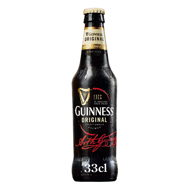 Cerveza Guinness Original irlandesa negra botella 33 cl.