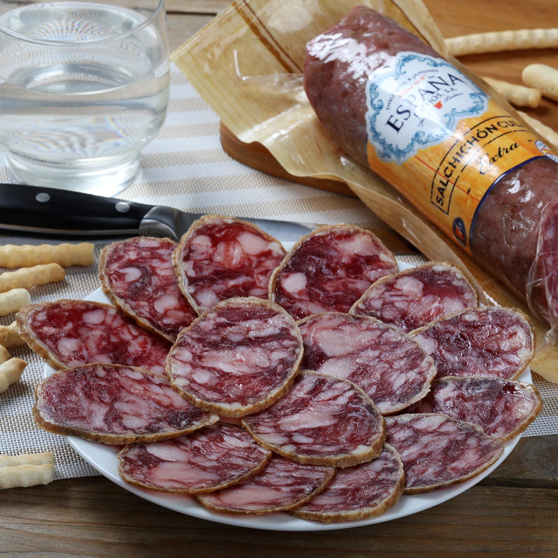 Salchichón cular extra pieza Embutidos España 400 g -