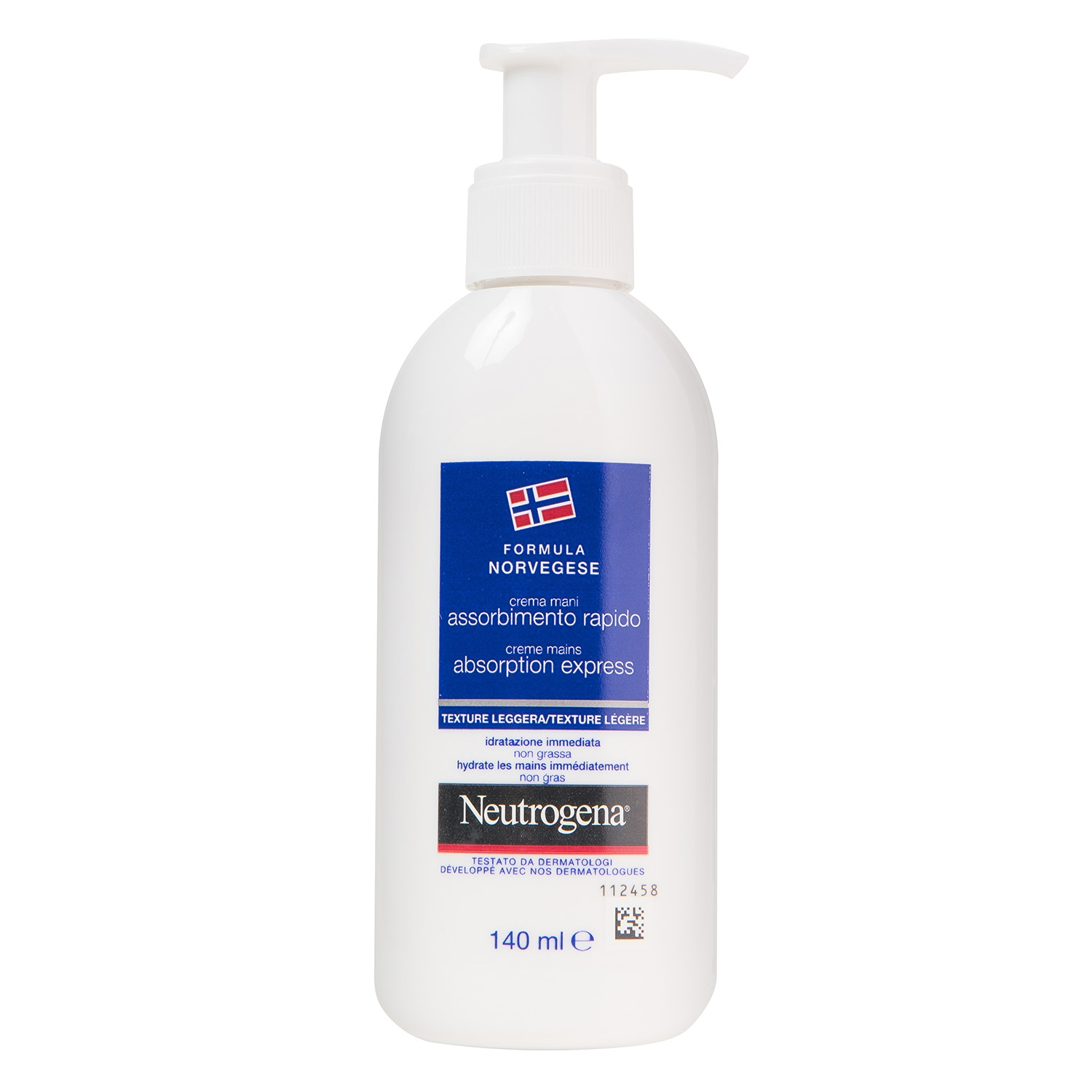 Crema de manos rapida absorcion Neutrogena 140 ml.