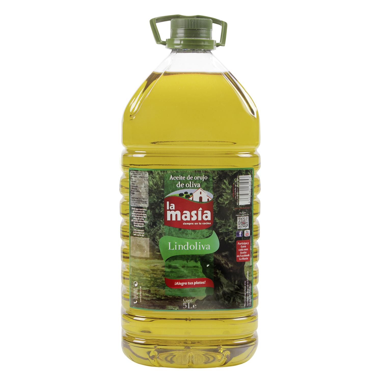 Aceite de orujo de oliva La Masía garrafa 5 l.