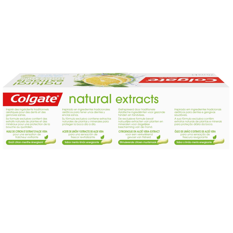 Dentífrico Naturals con aceite de limón y aloe vera Colgate 75 ml. -