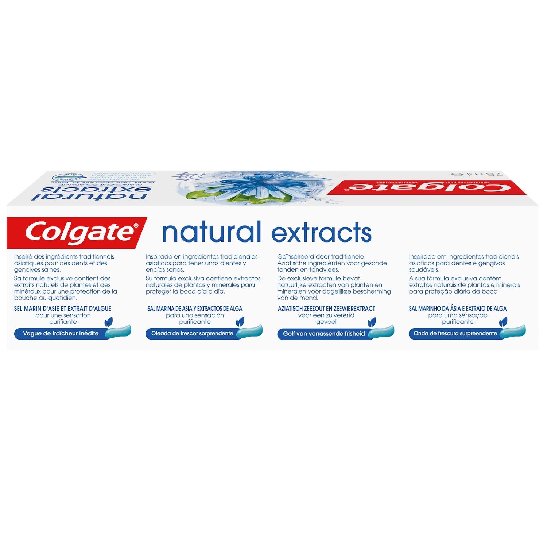 Dentífrico Naturals con sal marina de Asia y extracto de alga Colgate 75 ml. -