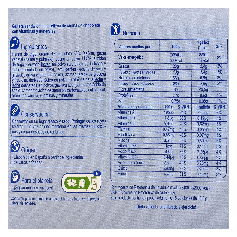 Galleta mini rellena de crema de chocolate - 2