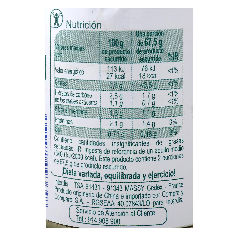 Yemas de espárragos blancos Producto blanco 135 g. - 2