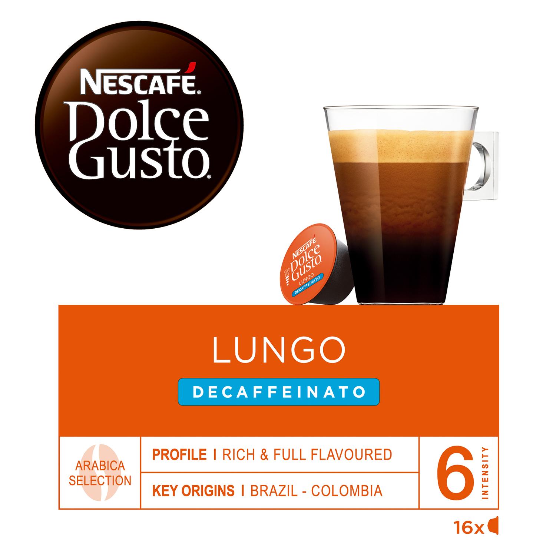 Café lungo descafeinado en cápsulas Nescafé Dolce Gusto 16 unidades de 7 g. -