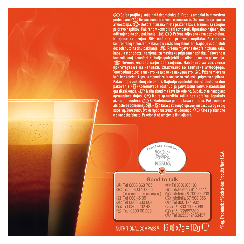 Café lungo descafeinado en cápsulas Nescafé Dolce Gusto 16 unidades de 7 g. - 3