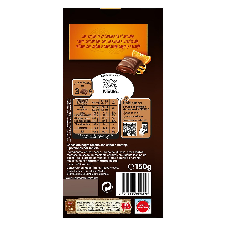 Relleno coulant de chocolate negro y naranja - 2