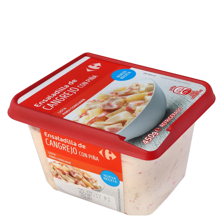 Ensalada de cangrejo con piña Carrefour 450 g.