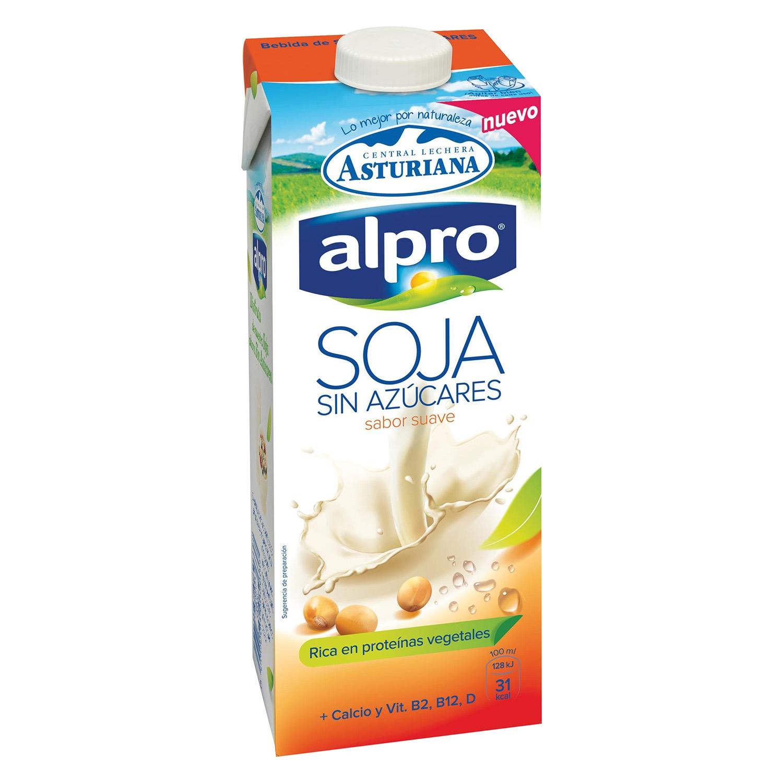 Bebida de soja sabor suave Alpro - Central Lechera Asturiana brik 1 l.