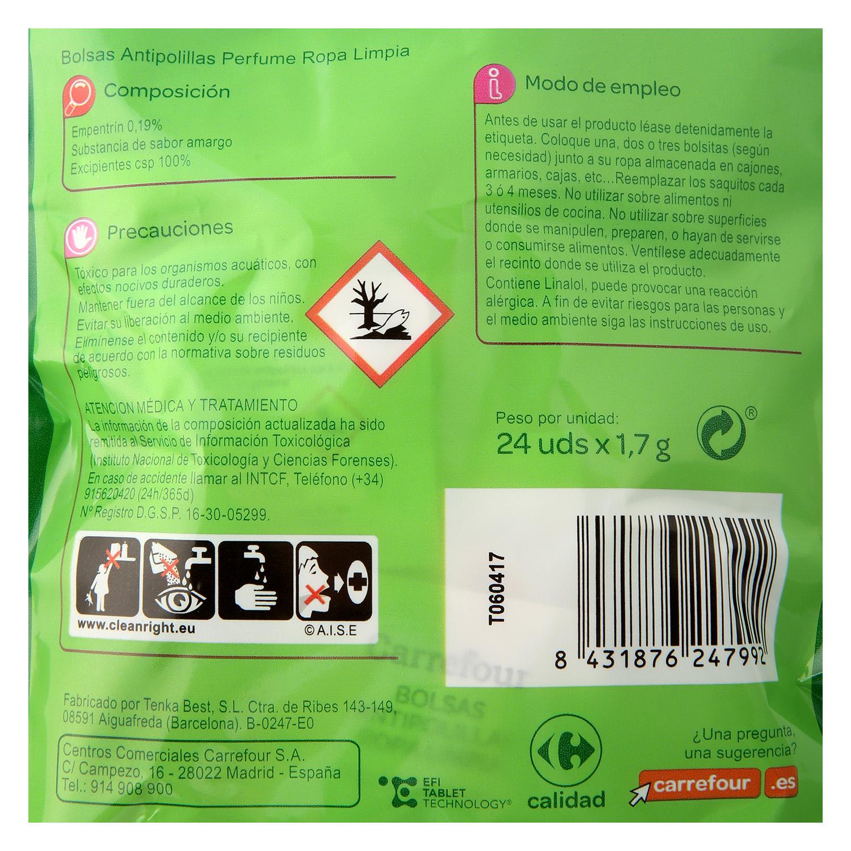 Bolsas antipolillas perfume Ropa Limpia - 2