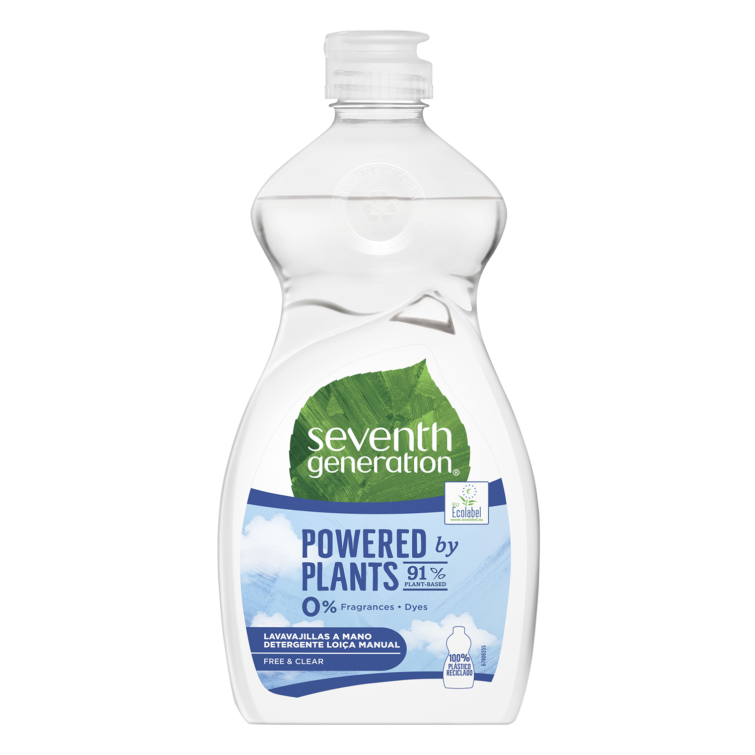Lavavajillas a mano ecológico Free & Clear Seventh Generation 500 ml.