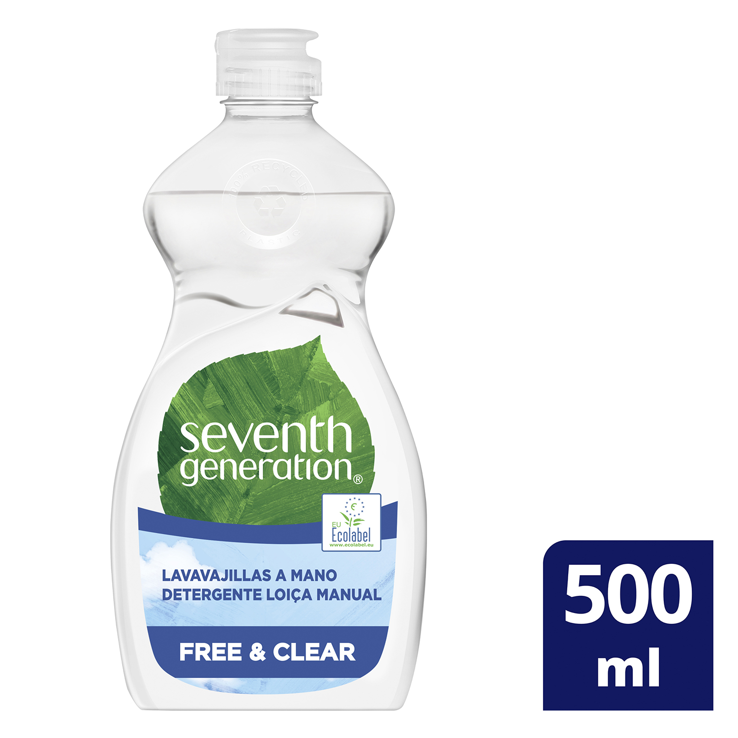 Lavavajillas a mano ecológico Free & Clear Seventh Generation 500 ml. - 3