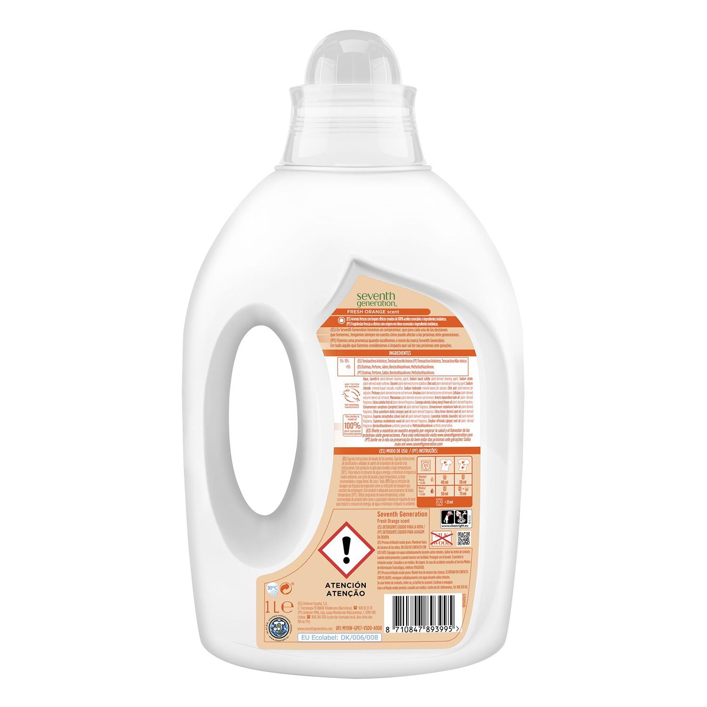 Detergente líquido ecológico Fresh Orange Seventh Generation 1 l. -