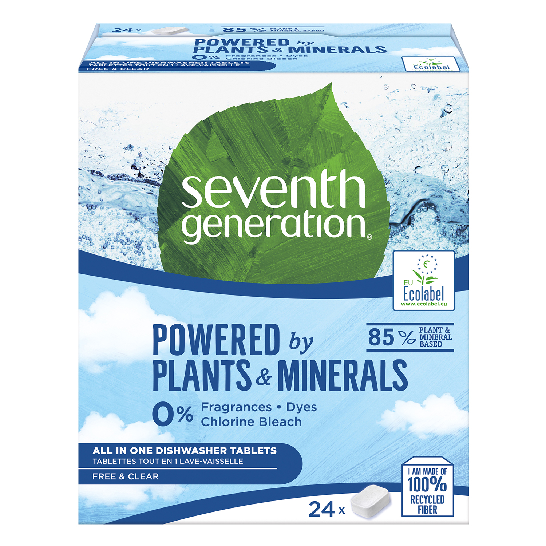 Lavavajillas máquina en pastillas ecológico Free & Clear Seventh Generation 24 ud.
