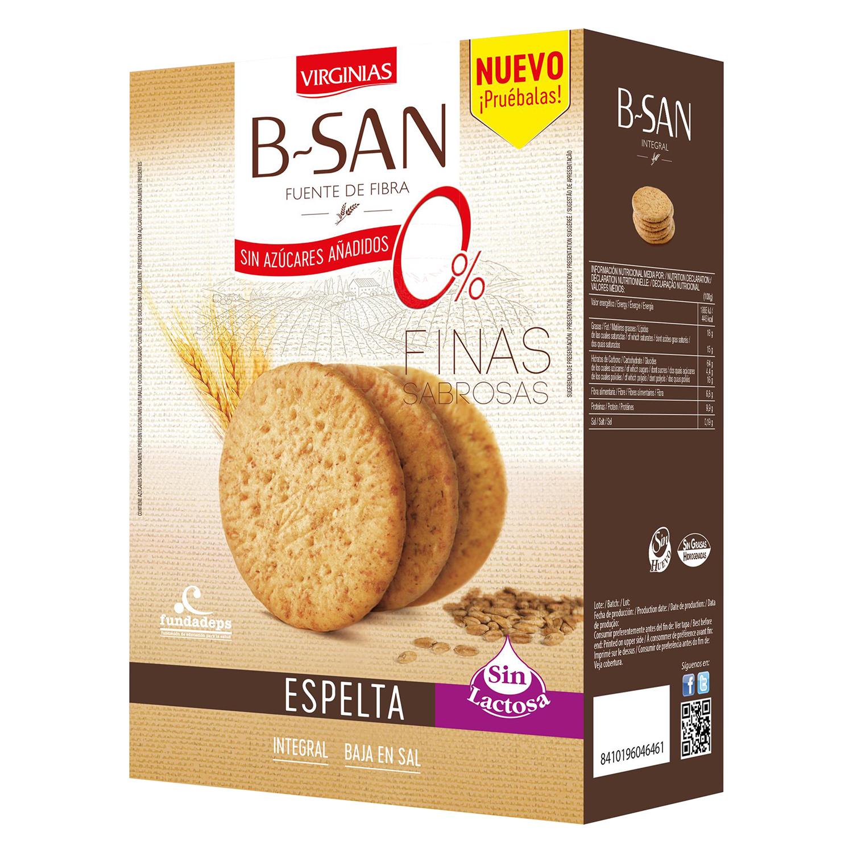 Galletas integrales de espelta B-San sin azúcar