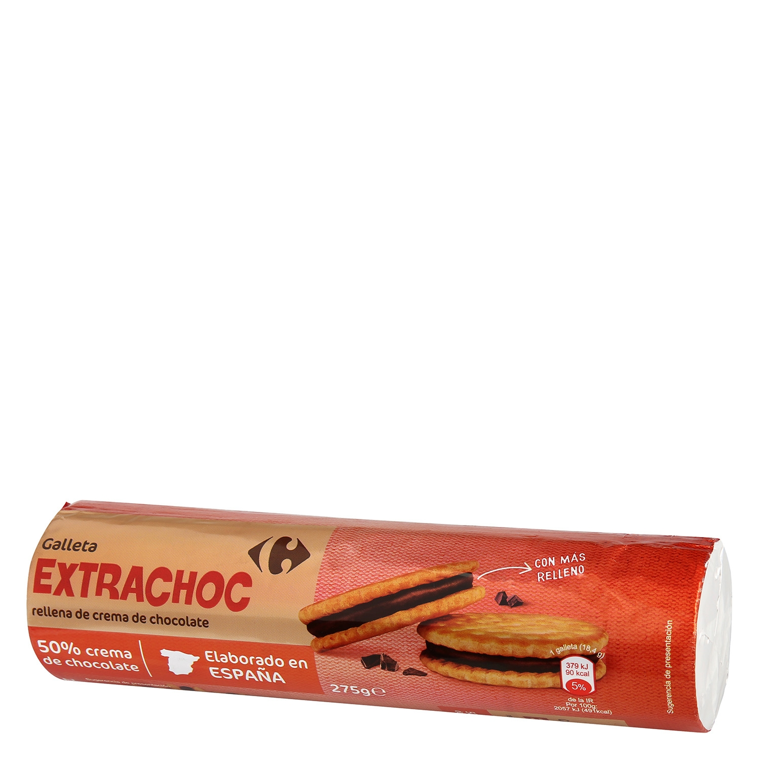 Galletas rellenas de crema de chocolate Carrefour 275 g. - 2