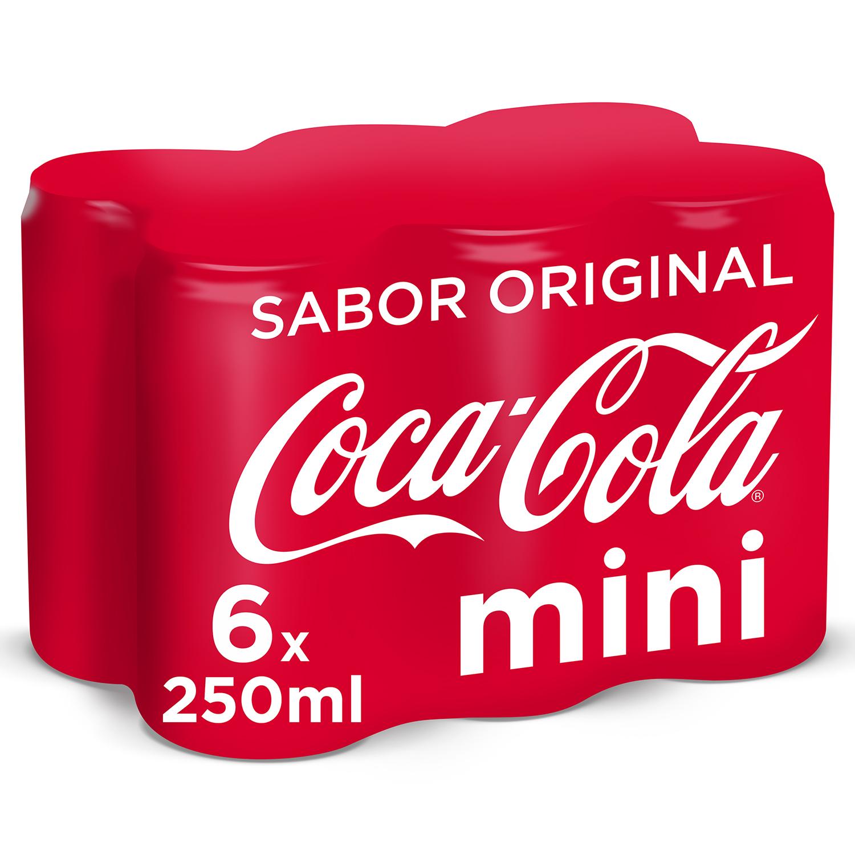 Refresco de cola Coca Cola pack de 6 latas de 25 cl.