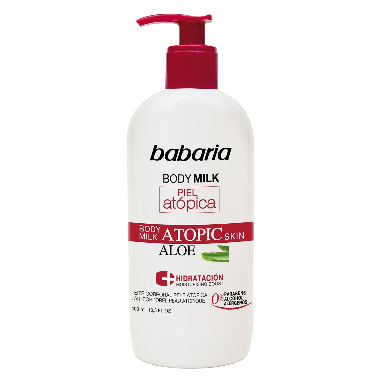 Crema corporal pieles atópicas con aloe vera