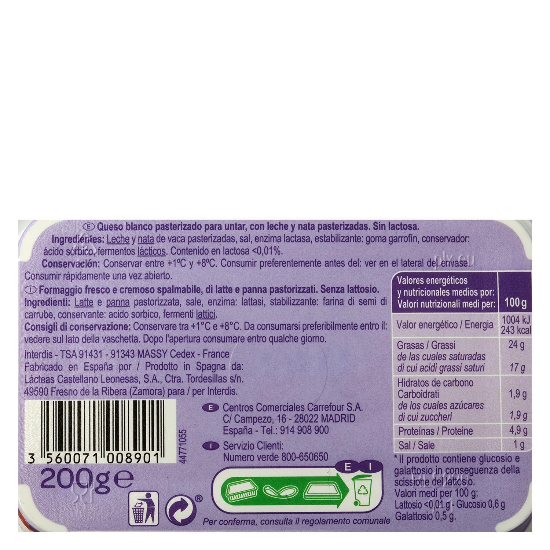 Queso para untar sin lactosa - 2