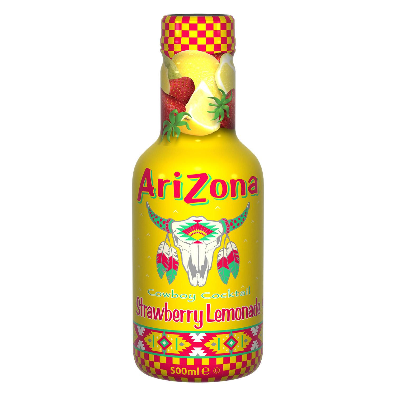 Limonada Arizona sabor fresasin gas botella 50 cl.