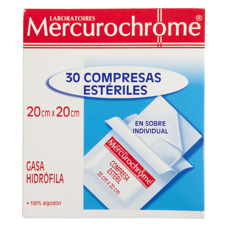 Compresas estériles Mercurochrome 30 ud.