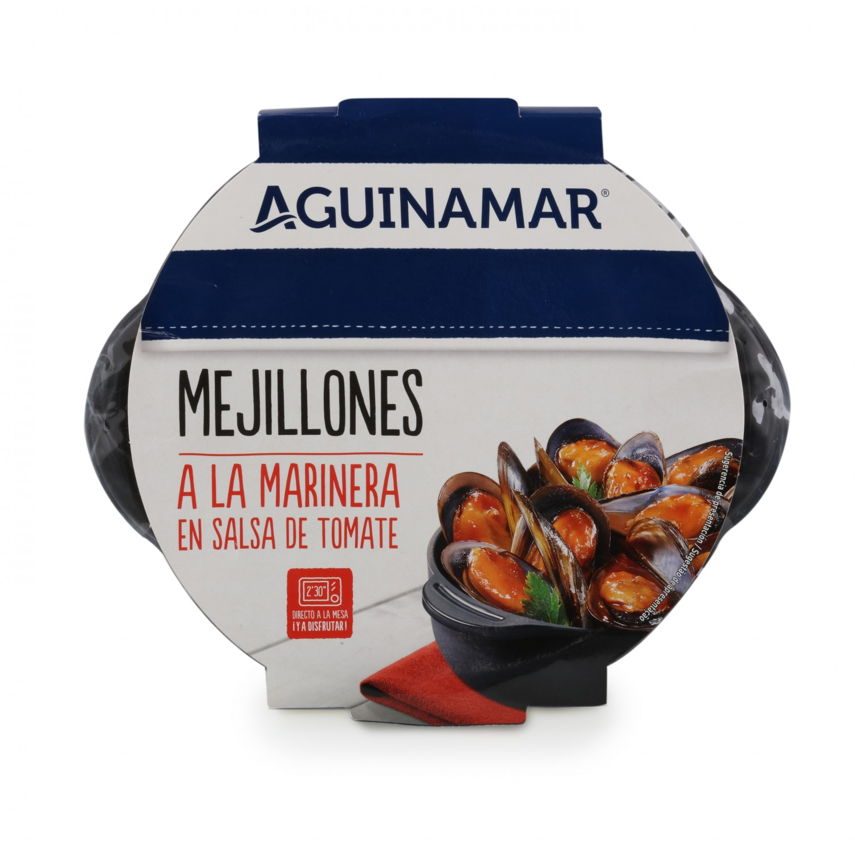 Mejillón en salsa de tomate Aguinamar 400 g