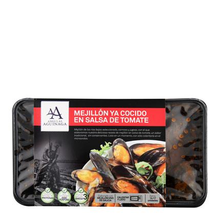 Mejillón en salsa de tomate Aguinamar 400 g -