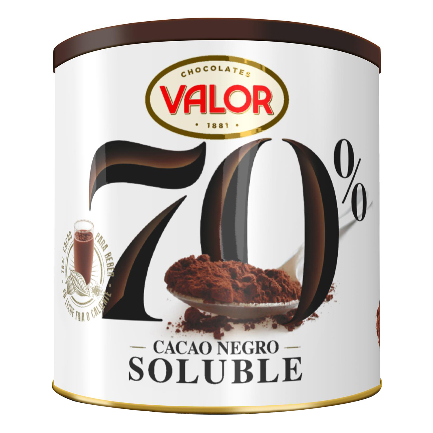 Cacao soluble Valor 300 g.