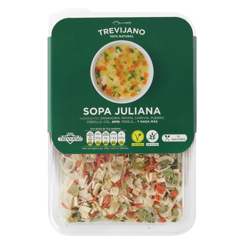 Sopa juliana deshidratada Trevijano envase 100 g - 2