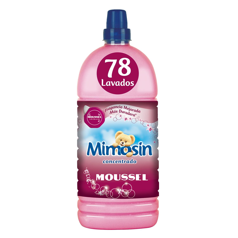 Suavizante concentrado moussel Mimosín 78 lavados.