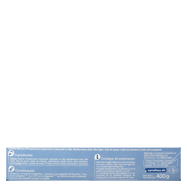 Gamba blanca cruda Carrefour 400 g. - 2