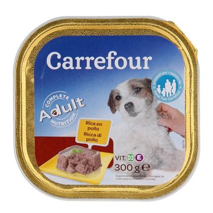 Alimento Húmedo para Perros Adulto Pavo con Zanahorias 300Gr, Carrefour