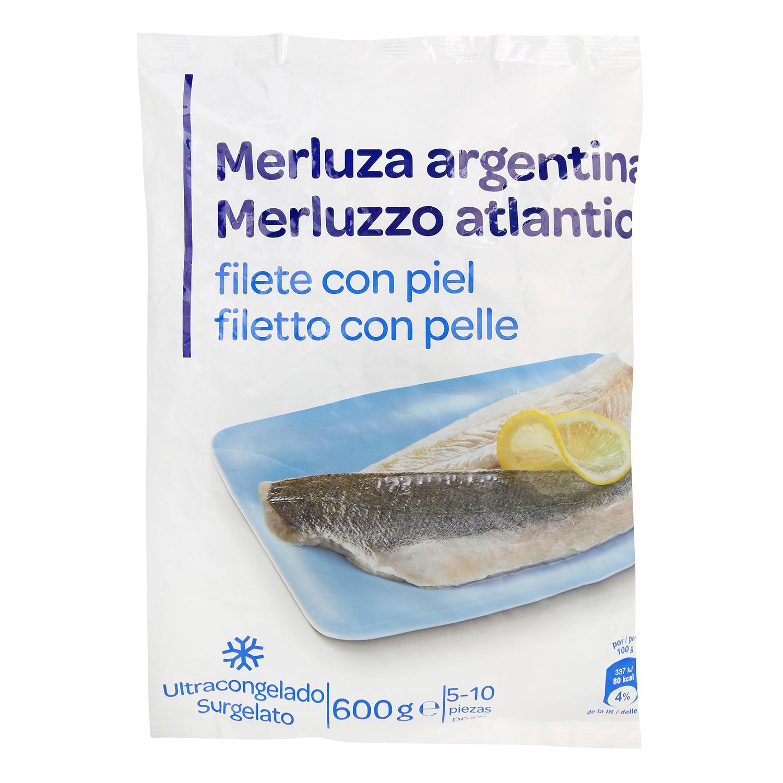 Filete de merluza con piel Producto blanco 600 g.