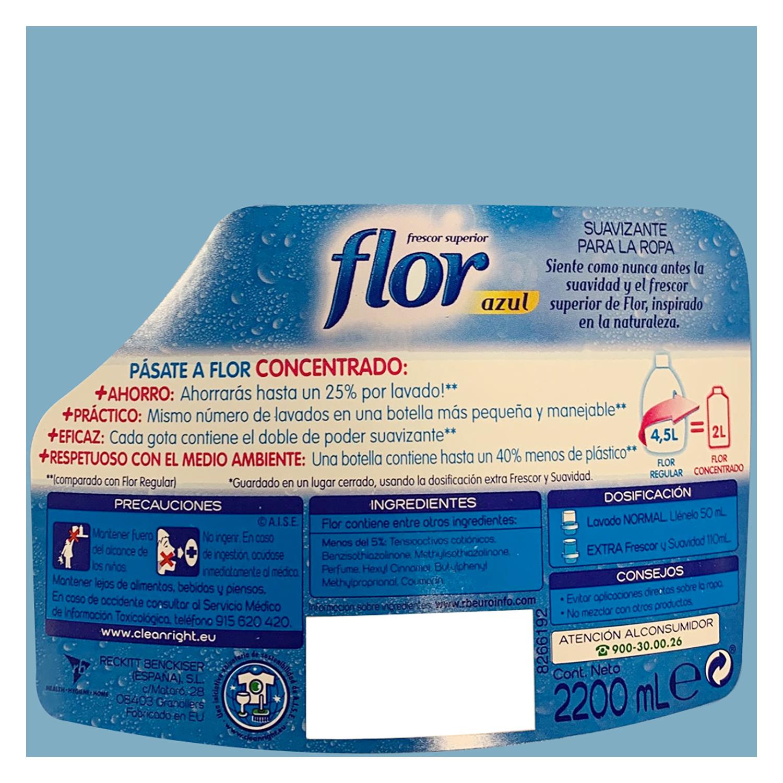 Suavizante concentrado Classic Flor 110 lavados. -