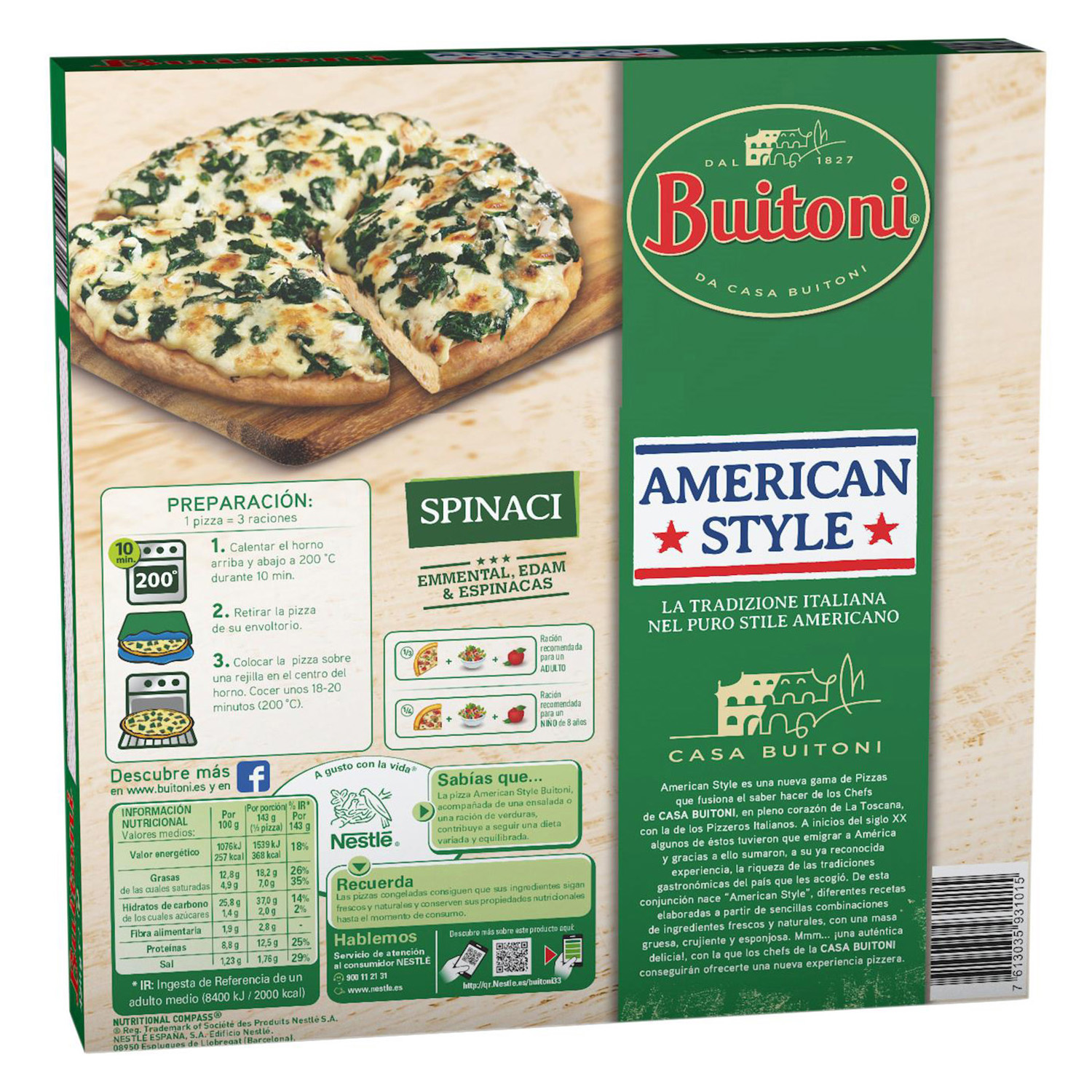 Pizza American Style Spinaci - 2