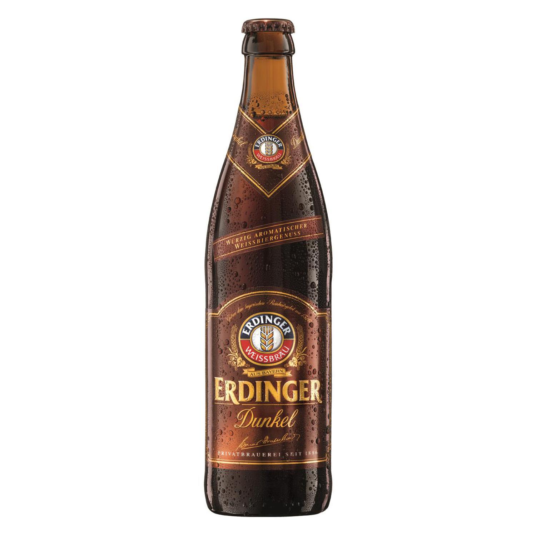 Cerveza Erdinger Dunkel alemana de trigo botella 50 cl.