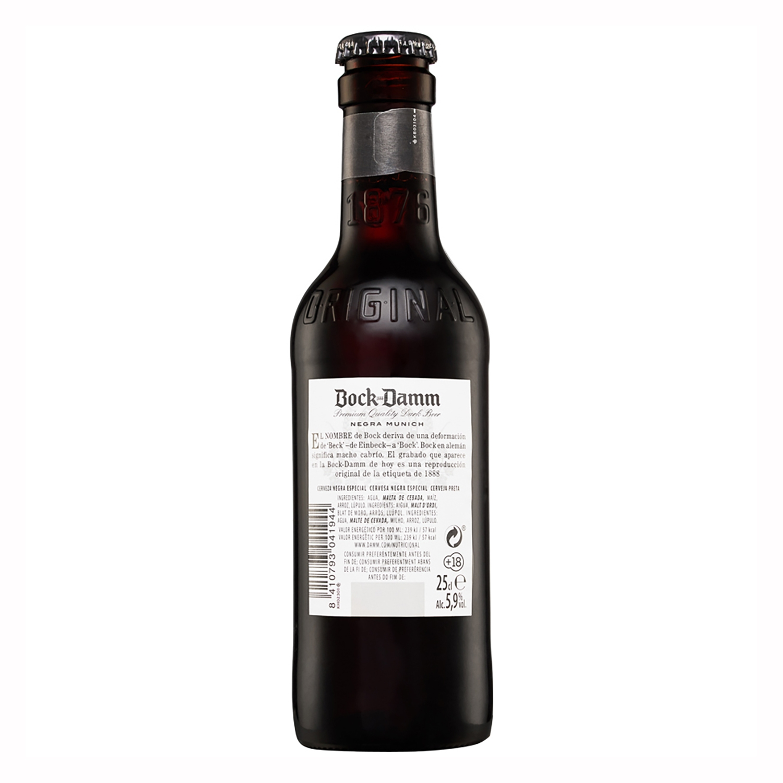 Cerveza Bock Damm Munich negra botella 25 cl. -
