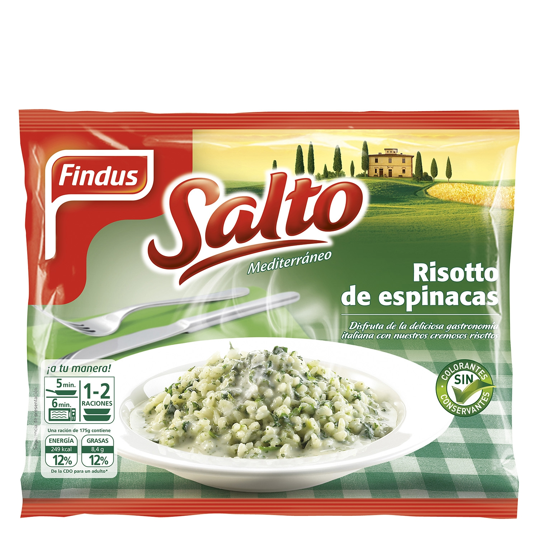 Risotto de espinacas Findus 350 g.