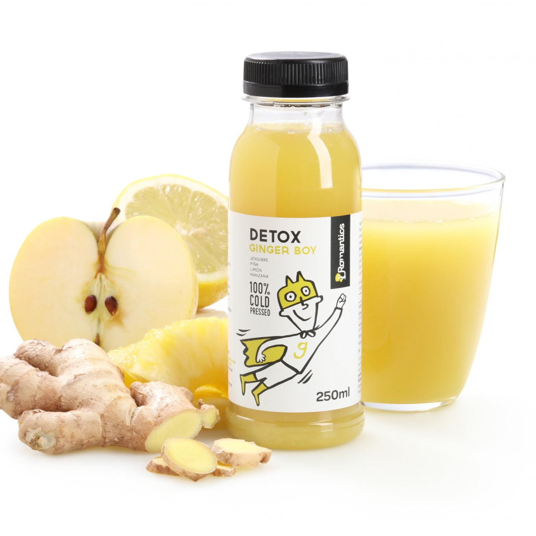 Zumo Romantics Detox Ginger Boy botella 25 cl.