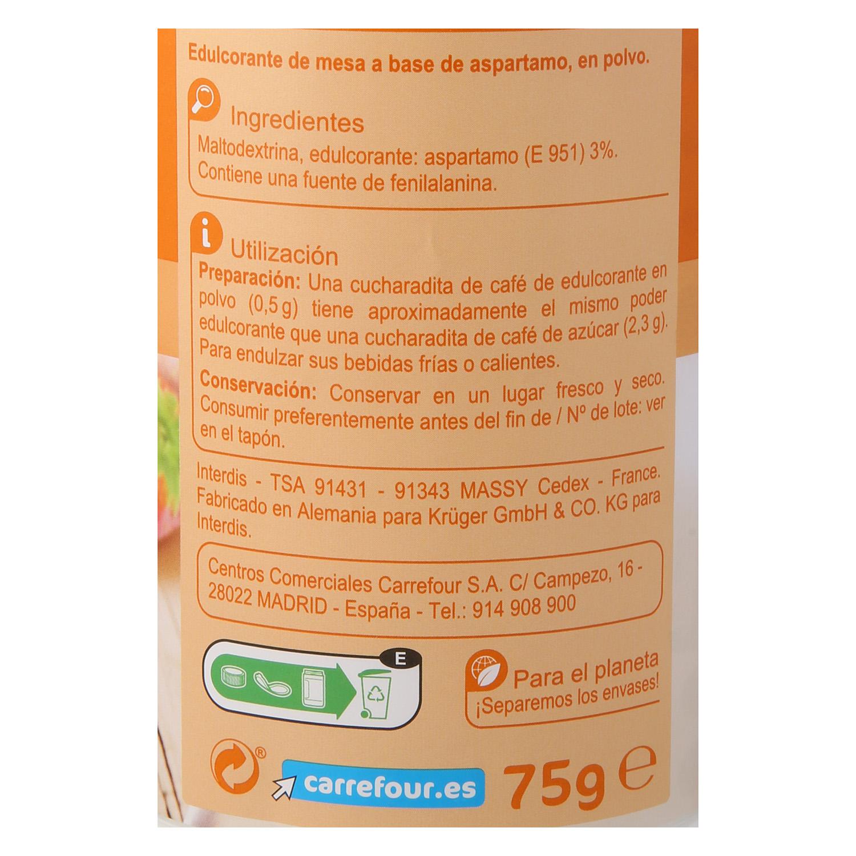 Edulcorante aspartamo polvo - 2