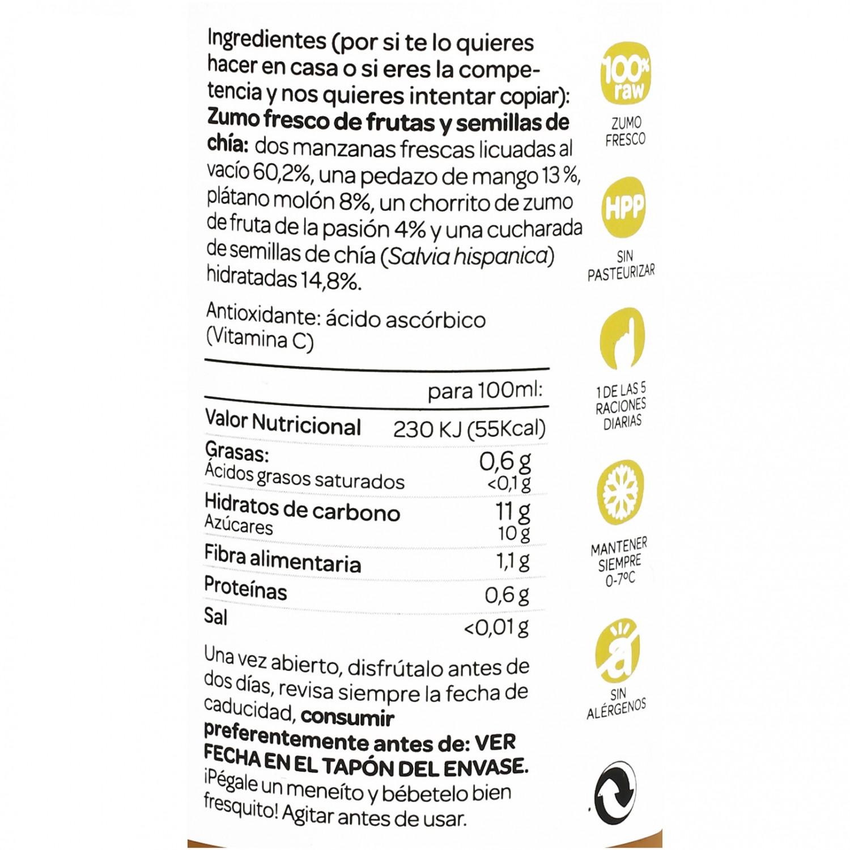Zumo Romantics Detox Chia - Nataraja botella 25 cl. - 4