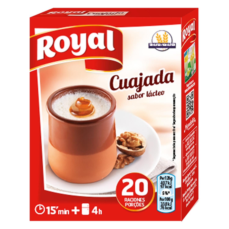 Preparado para cuajada sabor lácteo Royal 60 g.