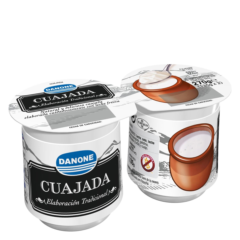 Cuajada Danone sin gluten pack de 2 unidades de 150 g.