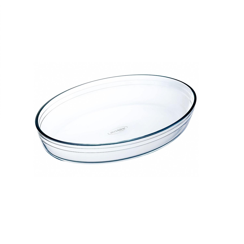 Fuente oval de Vidrio 39x27 cm Transparente