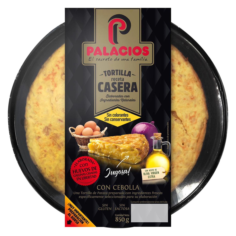 Tortilla fresca con cebolla sin gluten y sin lactosa